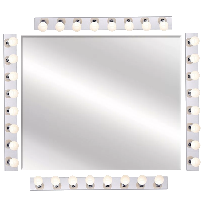 Best DIY Hollywood Makeup Mirror For Makeup Vanity Set Made With Vanity Strip Lights | Bottom Lights| Makeupvanityideas.com
