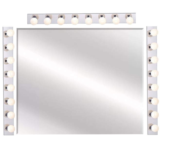 Best DIY Hollywood Makeup Mirror For Makeup Vanity Set Made With Vanity Strip Lights | Makeupvanityideas.com