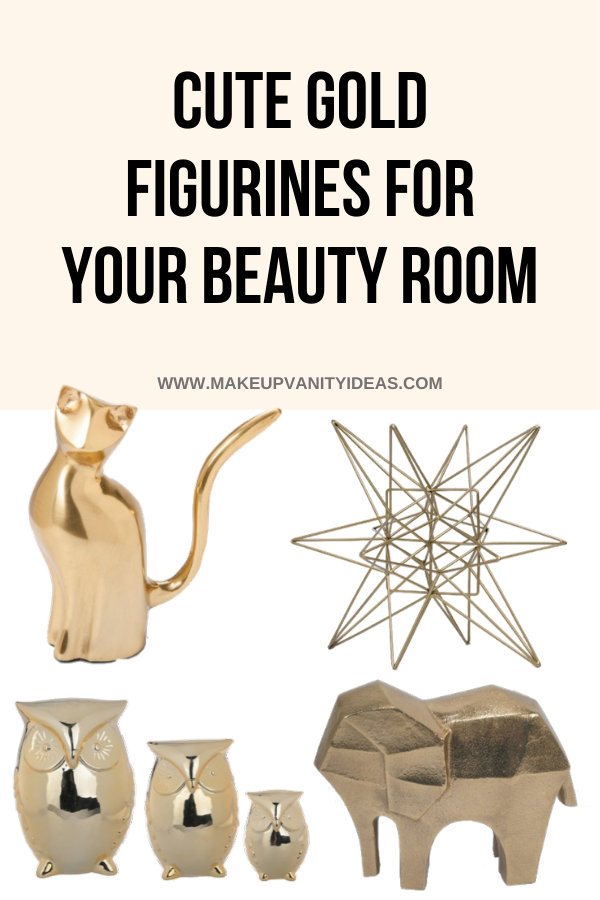 Cute Gold Figurines For Your Beauty Room 1 of 3