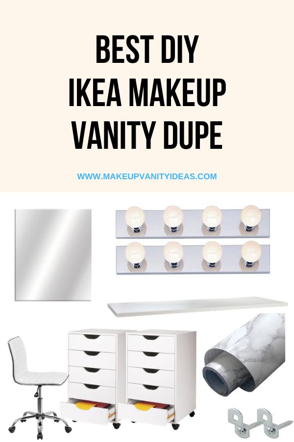 Best IKEA Makeup Vanity Dupe