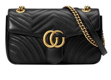 Black Gucci Marmont Matelassé Mini Bag Dupe